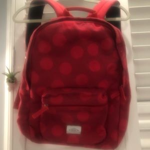 Fossil Red Ella Backpack with polka dots